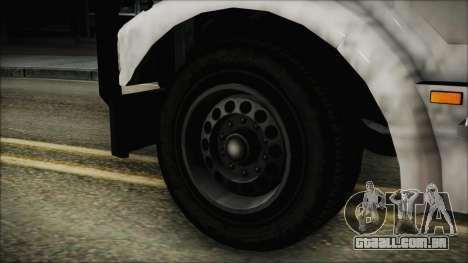 Indonesian Benson Truck In Real Life Version para GTA San Andreas traseira esquerda vista