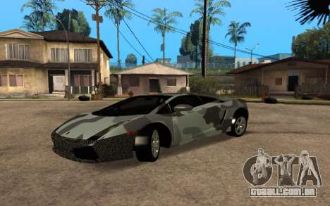 Lamborghini Gallardo Tunable v2 para GTA San Andreas vista traseira