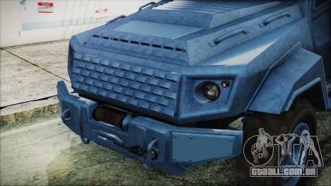 GTA 5 HVY Insurgent Van IVF para GTA San Andreas vista traseira