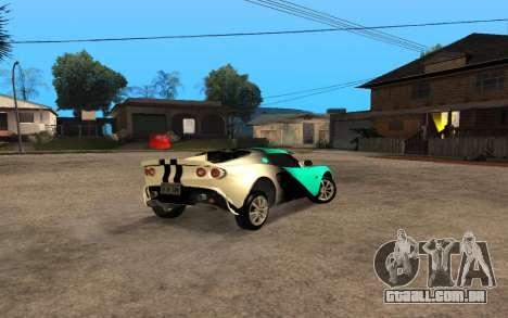 Lotus Elise 111s Tunable para GTA San Andreas vista direita