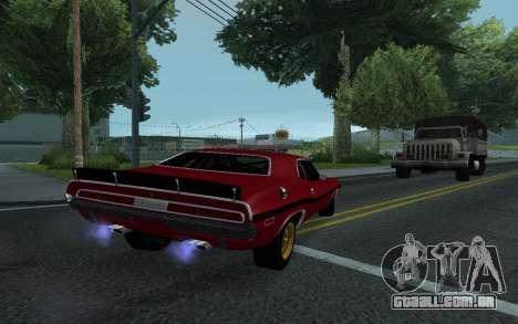 Dodge Challenger Tunable para GTA San Andreas vista interior