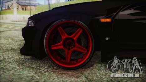 Nissan Skyline R33 Widebody v2.0 para GTA San Andreas traseira esquerda vista