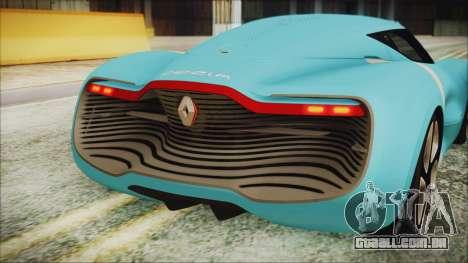 Renault Dezir Concept 2010 v1.0 para GTA San Andreas vista traseira