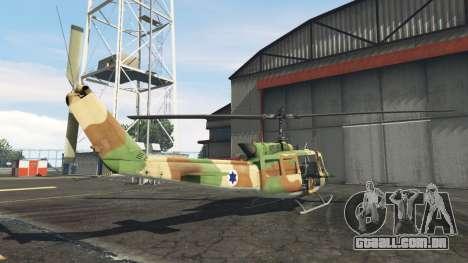 Bell UH-1D Israeli Air Force para GTA 5