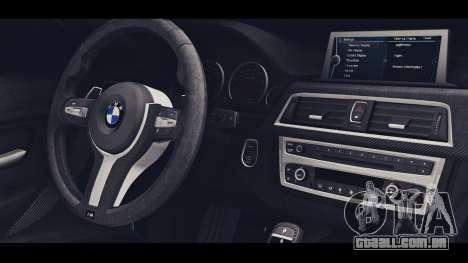 BMW M3 F30 IND EDITION para GTA San Andreas vista direita