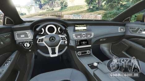 GTA 5 Mercedes-Benz CLS 63 AMG 2015 traseira direita vista lateral