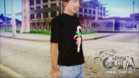 T-Shirt Cane Christmas para GTA San Andreas segunda tela