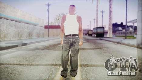 GTA 5 Grove Gang Member 3 para GTA San Andreas terceira tela