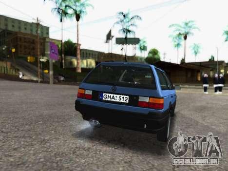 Volkswagen Passat B3 Variant para GTA San Andreas traseira esquerda vista