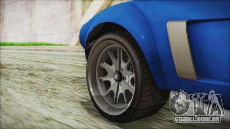 GTA 5 Declasse Mamba para GTA San Andreas traseira esquerda vista