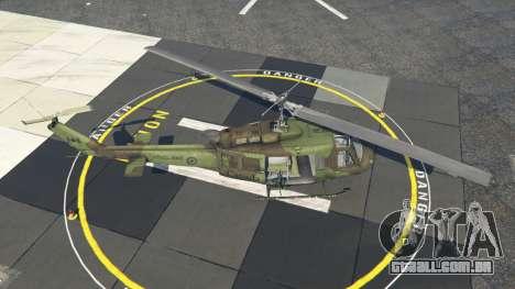 GTA 5 Bell UH-1D Huey Royal Canadian Air Force quarto screenshot