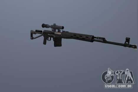 Rifle Sniper Dragunov para GTA San Andreas segunda tela