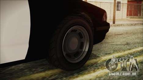 GTA 5 Vapid Stranier II Police Cruiser para GTA San Andreas traseira esquerda vista