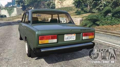 GTA 5 VAZ-2107 [Riva] v1.1 traseira vista lateral esquerda