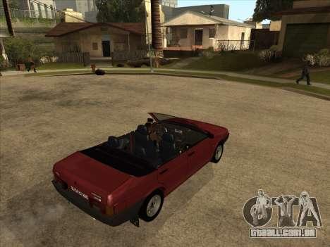 VAZ 21099 Conversível para GTA San Andreas vista direita