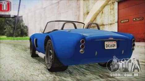 GTA 5 Declasse Mamba para GTA San Andreas esquerda vista