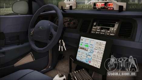 Ford Crown Victoria Miami Dade para GTA San Andreas vista direita