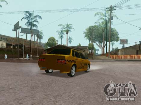 VAZ 21099 Tuning Russian Taxi para GTA San Andreas traseira esquerda vista