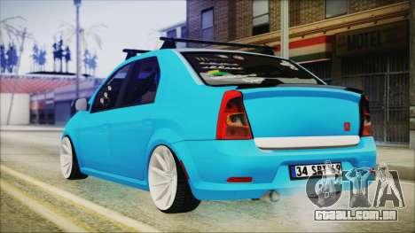 Dacia Logan Cadde Style para GTA San Andreas esquerda vista