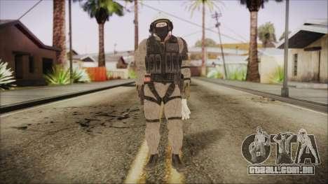 XOF Soldier (Metal Gear Solid V Ground Zeroes) para GTA San Andreas segunda tela