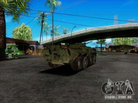 BTR 80 para GTA San Andreas traseira esquerda vista