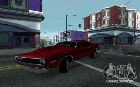 Dodge Challenger Tunable para GTA San Andreas vista traseira