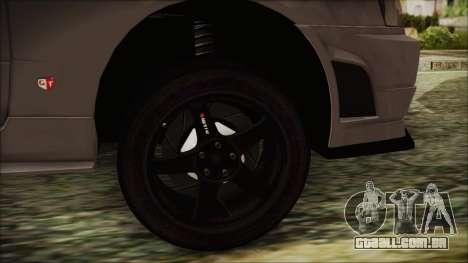 Nissan Skyline Nismo Body Kit para GTA San Andreas traseira esquerda vista