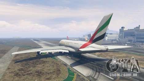 GTA 5 Airbus A380-800 terceiro screenshot