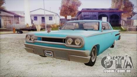 GTA 5 Declasse Clean Voodoo Bobble Version IVF para GTA San Andreas