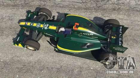 GTA 5 Lotus T127 voltar vista