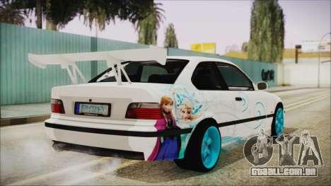 BMW M3 E36 Frozen para GTA San Andreas esquerda vista
