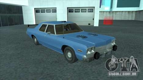 Dodge Monaco V8 7.2L 1974 para GTA San Andreas vista interior