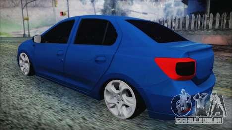 Dacia Logan 2015 para GTA San Andreas traseira esquerda vista