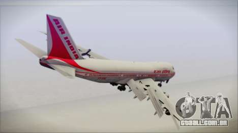 Boeing 747-237Bs Air India Emperor Shahjehan para GTA San Andreas esquerda vista