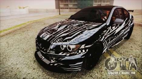 BMW M3 GTS 2011 HQLM para GTA San Andreas vista superior