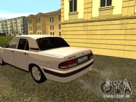 Volga GAZ 3110 para GTA San Andreas traseira esquerda vista