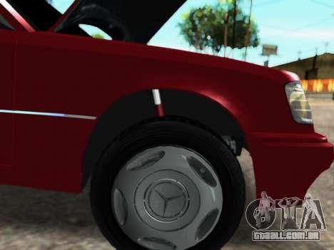 Mercedes-Benz W124 E500 para GTA San Andreas esquerda vista