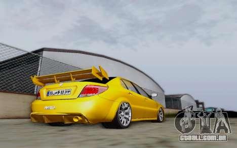Ikco Dena Full Tuning para GTA San Andreas traseira esquerda vista