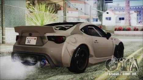 Toyota GT86 Rocket Bunny Tunable HQLM para GTA San Andreas esquerda vista
