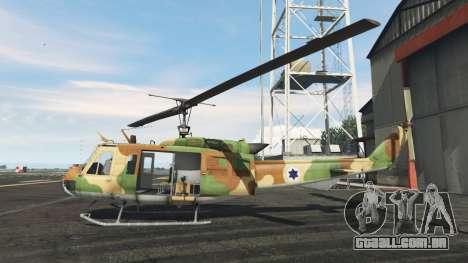 GTA 5 Bell UH-1D Israeli Air Force segundo screenshot