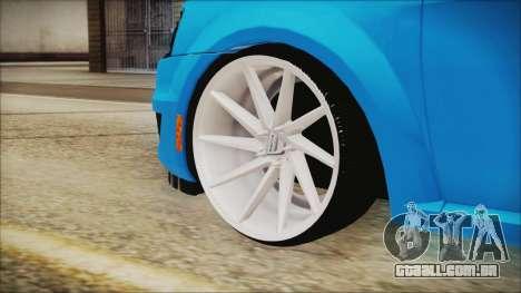 Dacia Logan Cadde Style para GTA San Andreas traseira esquerda vista
