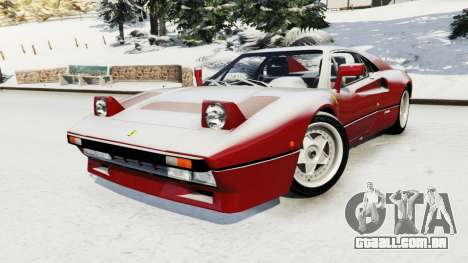 GTA 5 Ferrari 288 GTO 1984 vista lateral direita