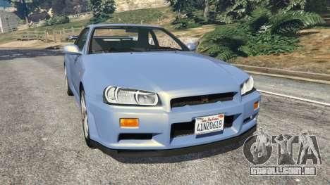 Nissan Skyline R34 2002 para GTA 5