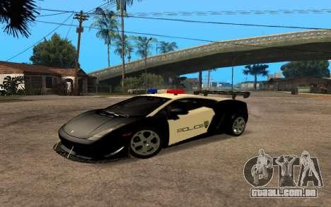 Lamborghini Gallardo Tunable v2 para GTA San Andreas traseira esquerda vista