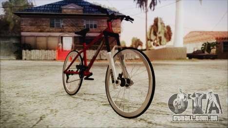 Scorcher Racer Bike para GTA San Andreas traseira esquerda vista