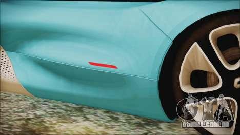 Renault Dezir Concept 2010 v1.0 para GTA San Andreas vista superior