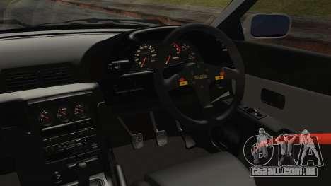 Nissan Skyline R32 Nozomi Toujo Itasha para GTA San Andreas vista direita