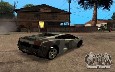Lamborghini Gallardo Tunable v2 para GTA San Andreas vista interior