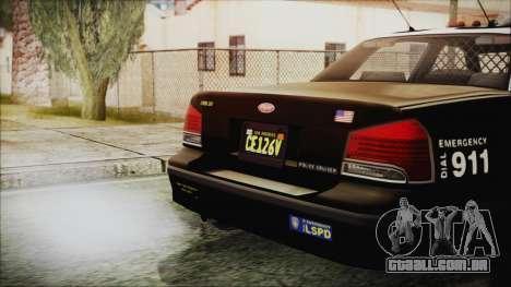 GTA 5 Vapid Stranier II Police Cruiser para GTA San Andreas vista direita
