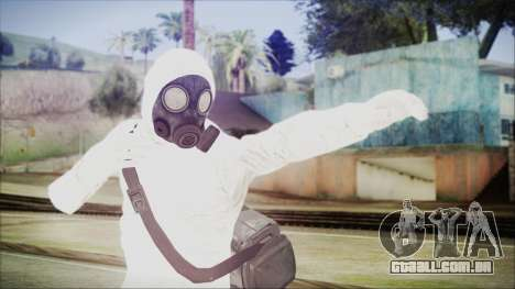 GTA 5 Online The Heist Gasmask Yellow para GTA San Andreas
